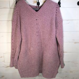 Lane Bryant mauve tunic sweater NWT